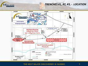 Trenches location