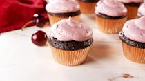 """<p>Wine and chocolate are the ultimate pair, and these Merlot-infused cupcakes are proof. </p><p><em><a href=""""https://www.delish.com/cooking/recipe-ideas/a28635860/chocolate-merlot-cupcakes-recipe/"""" rel=""""nofollow noopener"""" target=""""_blank"""" data-ylk=""""slk:Get the recipe from Delish »"""" class=""""link rapid-noclick-resp"""">Get the recipe from Delish »</a></em></p>"""