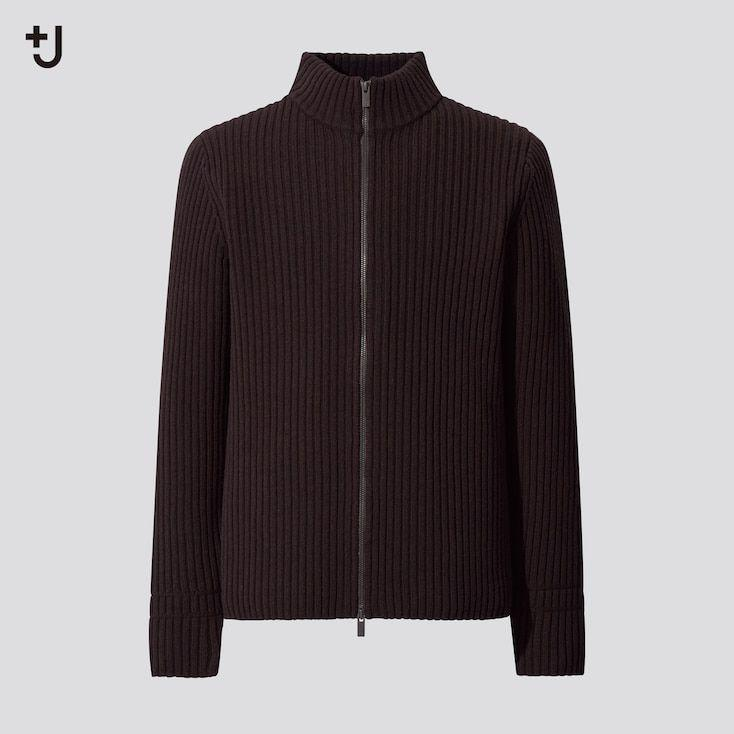 """<p><strong>Uniqlo</strong></p><p>uniqlo.com</p><p><strong>$79.90</strong></p><p><a href=""""https://go.redirectingat.com?id=74968X1596630&url=https%3A%2F%2Fwww.uniqlo.com%2Fus%2Fen%2Fmen-plusj-ribbed-full-zip-long-sleeve-sweater-435794.html&sref=https%3A%2F%2Fwww.esquire.com%2Fstyle%2Fmens-fashion%2Fg34654836%2Funiqlo-j-jil-sander-collaboration-2020%2F"""" rel=""""nofollow noopener"""" target=""""_blank"""" data-ylk=""""slk:Buy"""" class=""""link rapid-noclick-resp"""">Buy</a></p><p>A loose knit sweater made out of a wool-nylon blend that adds some much-needed slouchiness. </p>"""