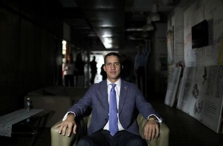 Venezuelan opposition leader Juan Guaido, who many nations have recognized as the country's rightful interim ruler, poses for picture after an interview with Reuters in Caracas, Venezuela, May 22, 2019.  REUTERS/Manaure Quintero
