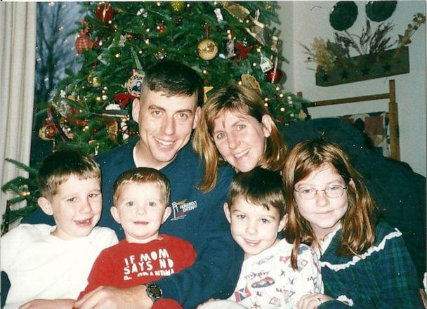 PHOTO: Former Lt. Col. Timothy Brooks celebrated an early Christmas with his wife, Kim Brooks, and their four children in November 2001 at their home in Fort Drum, N.Y. (Courtesy Kim Brooks)