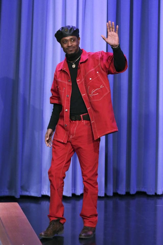 <p>WHERE: On <em>The Tonight Show Starring Jimmy Fallon</em></p> <p>WHEN: December 1, 2019</p> <p>WHY: Shouts to Lakeith for (we assume) celebrating the 25th anniversary of an incredible mid-90s talk show fit.</p>