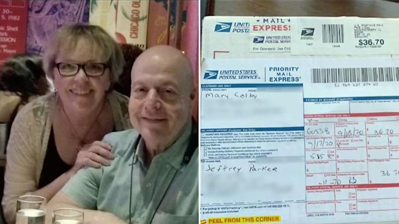 Mary Colby thought her husband's ashes were lost in the mail, after the US Postal Service failed to deliver them on time. Source: CBS 2