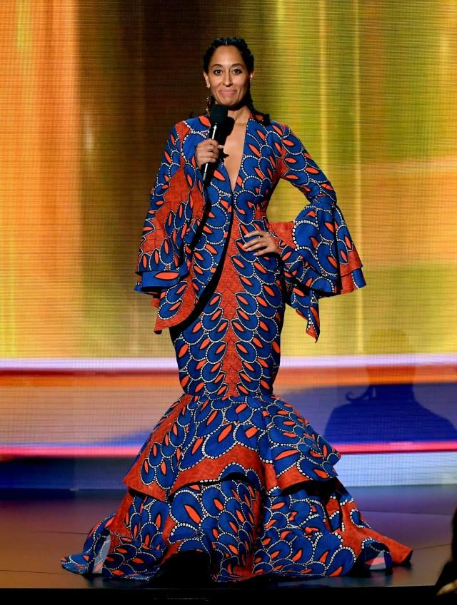 Tracee Ellis Ross printed dress AMAs