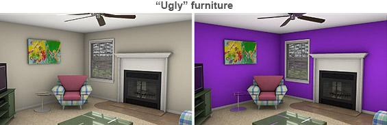 'Ugly' furniture staged rooms copyright Photo courtesy of Michael Seiler, College of William and Mary
