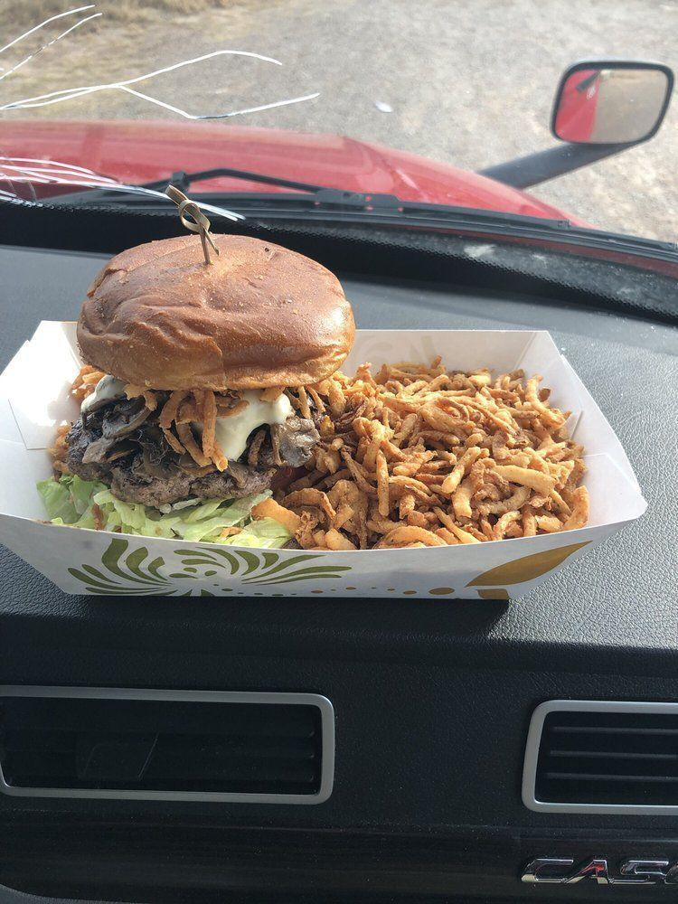 """<p><strong><a href=""""https://www.yelp.com/biz/chef-toddzillas-gourmet-burgers-and-mobile-cuisine-roswell"""" rel=""""nofollow noopener"""" target=""""_blank"""" data-ylk=""""slk:Chef Toddzilla's Gourmet Burgers & Mobile Cuisine"""" class=""""link rapid-noclick-resp"""">Chef Toddzilla's Gourmet Burgers & Mobile Cuisine</a>, Roswell</strong><br></p><p>""""We had impossible burgers with Green Chile, peppers, onions, lettuce, tomatoes, and it was VERY good. The burgers were well prepared, came out fast and appropriate portions."""" – Yelp user <a href=""""https://www.yelp.com/user_details?userid=ktf0mLRwdDIM1wFqewJlSg"""" rel=""""nofollow noopener"""" target=""""_blank"""" data-ylk=""""slk:David J."""" class=""""link rapid-noclick-resp"""">David J.</a></p><p>Photo: Yelp/<a href=""""https://www.yelp.com/user_details?userid=9fZnAdj6xEgl2QDGUhdeEQ"""" rel=""""nofollow noopener"""" target=""""_blank"""" data-ylk=""""slk:Paul C."""" class=""""link rapid-noclick-resp"""">Paul C.</a></p>"""