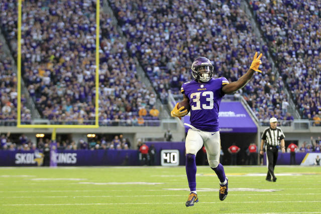 Minnesota Vikings running back Dalvin Cook could be the center of the offense next season. (AP Photo/Andy Clayton-King)