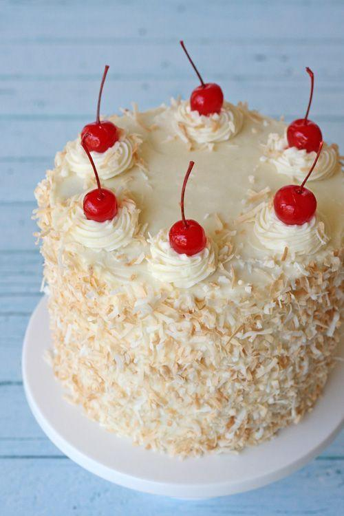 """<p>Give your guests a piece of this tropical dessert topped with a tasty coconut cream cheese frosting.</p><p><strong>Get the recipe at <a href=""""http://www.glorioustreats.com/2013/06/pina-colada-cake.html"""" rel=""""nofollow noopener"""" target=""""_blank"""" data-ylk=""""slk:Glorious Treats"""" class=""""link rapid-noclick-resp"""">Glorious Treats</a>.</strong> </p>"""