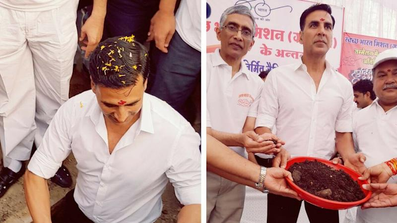 Akshay Kumar Digs Two Pitt Toilets With Minister