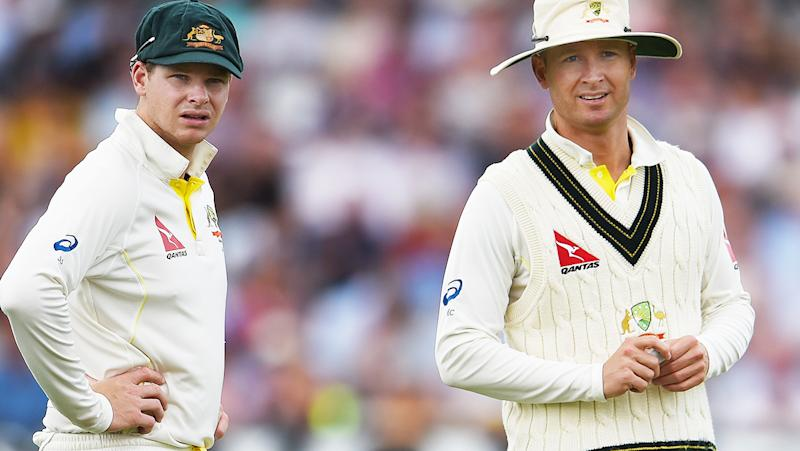 Steve Smith and Michael Clarke, pictured here during the 2015 Ashes series in England.