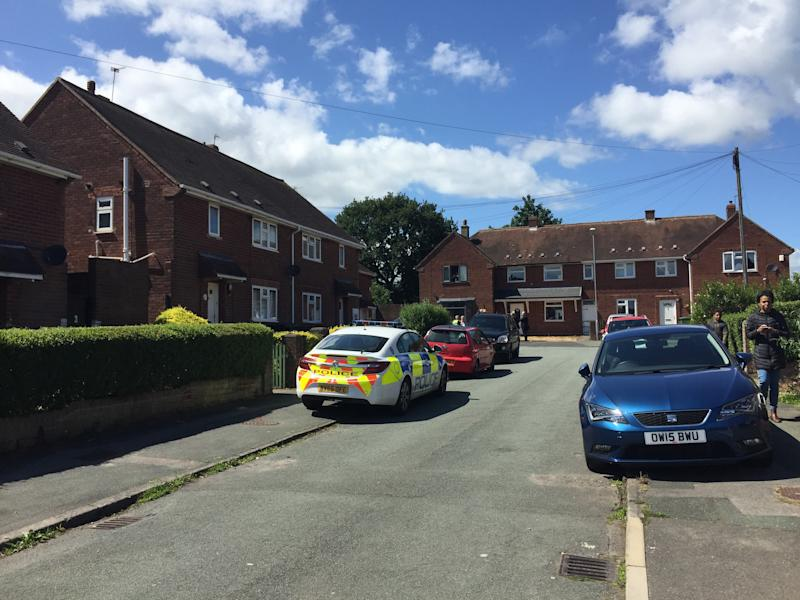 Stephens Close, Wolverhampton, where two paramedics have been stabbed and are currently in hospital in stable condition. A man has been arrested.