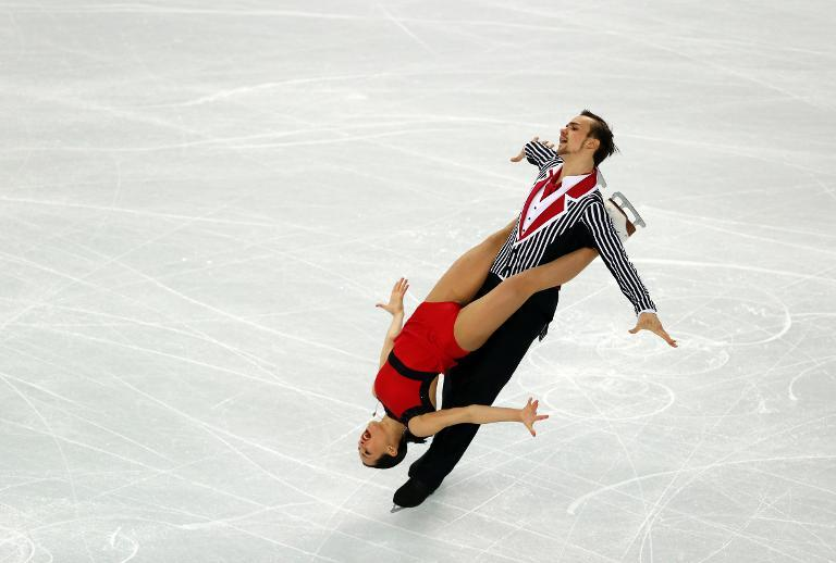 Russia's Ksenia Stolbova and Fedor Klimov perform in the Figure Skating Pairs Team Free Program at the Iceberg Skating Palace during the 2014 Sochi Winter Olympics on February 8, 2014