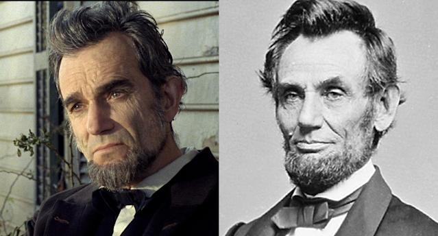 <p>Few historical figures are as immediately identifiable as Abraham Lincoln, and Daniel Day-Lewis strikingly embodied the assassinated American president (a role that earned him a Best Actor Oscar) in Steven Spielberg's stellar 2012 <i>Lincoln</i>. (Photo: Courtesy of Everett Collection/Getty Images) </p>