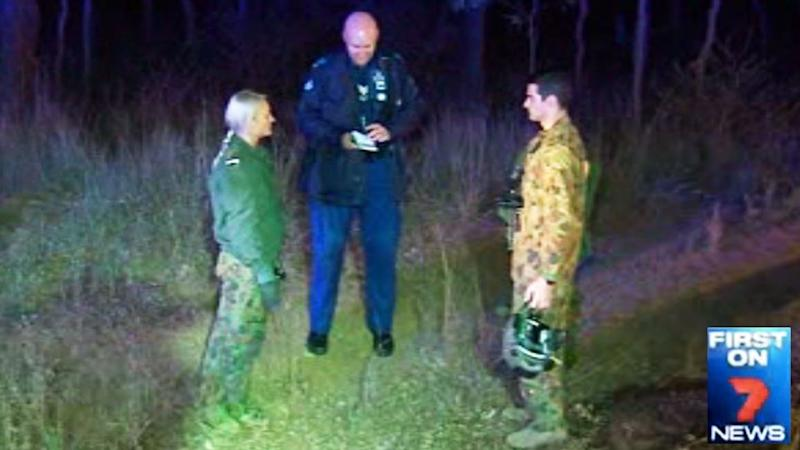These are the two heroic defence force pilots who rescued the elderly man from his burning vehicle. Photo: 7 News