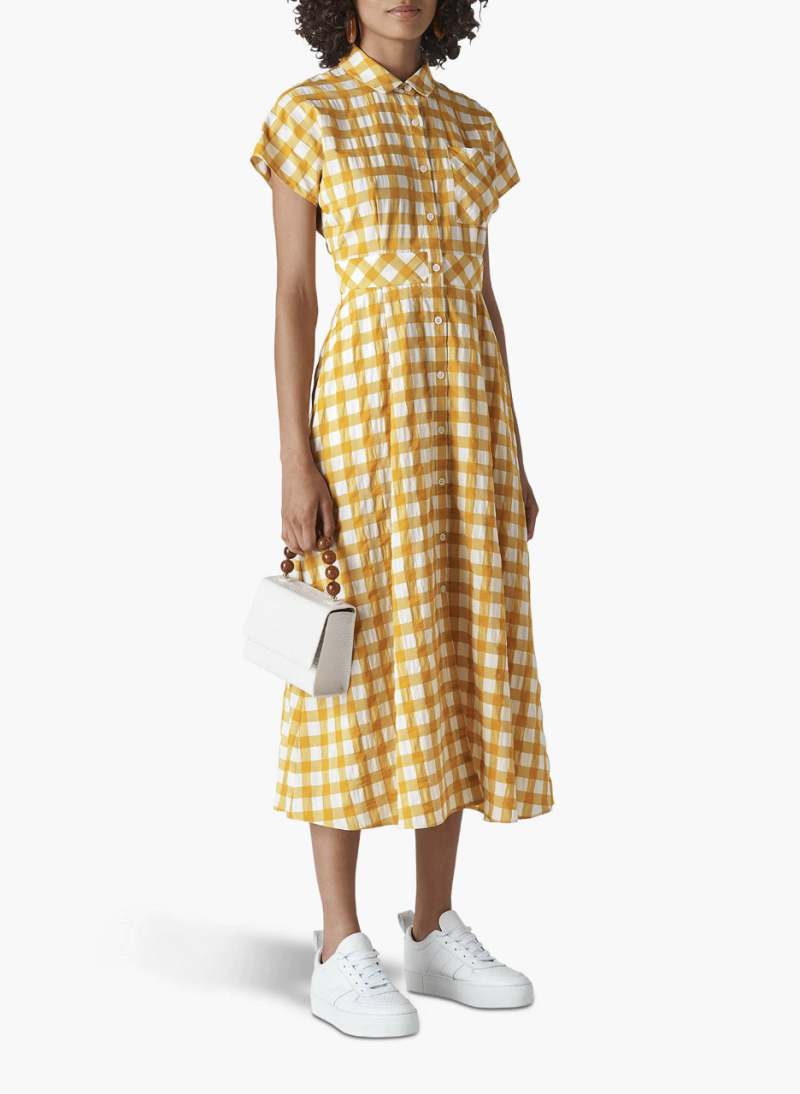 Whistles Ilana Check Shirt Dress [Photo: John Lewis]