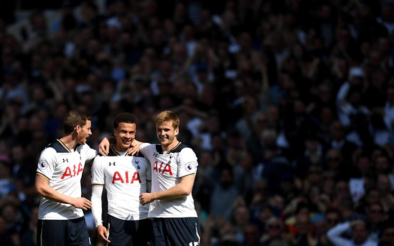 Jan Vertonghen Dele Alli and Eric Dier - Credit: GETTY