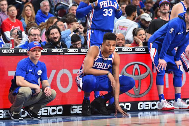 Markelle Fultz returned for the Philadelphia 76ers after missing 68 games with a shoulder injury. (Getty)