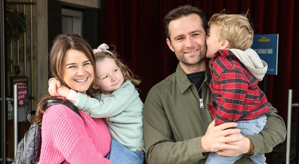 Harry Judd and wife Izzy are already parents to Lola and Kitt. (Getty Images)