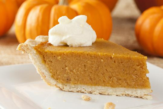 "<p><b>2. Pumpkin Pie</b></p><p><b>Take a tip from our American chums and pop a pumpkin pie in the oven - it's a classic for a reason. Make it easy on yourself by swiping a ready made pastry case. No one needs to know, OK?</b></p><p><b>Get the recipe from <a rel=""nofollow"" href=""http://www.thenosh.co.uk/pumpkin-pie-time/"">The Nosh</a>.</b></p><p><br /></p>"