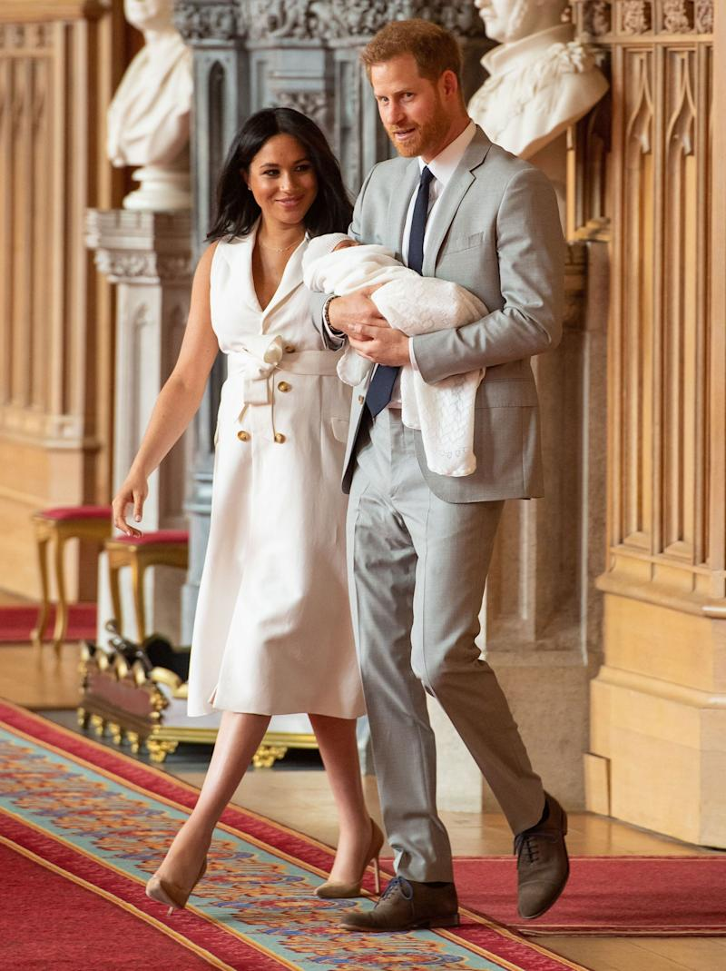 People on Twitter have already commented Meghan Markle on her gorgeous look, not to mention the duchess's ability to pull the beautiful ensemble together just days after the birth. Photo: Getty Images