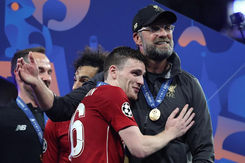 Father figure: Andy Robertson is full of praise for Liverpool boss Jurgen Klopp (Getty Images)