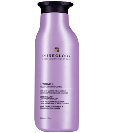 """<h3>Pureology Hydrate Shampoo</h3> <br>""""I've long been a fan of this shampoo and conditioner, but I've earned a new appreciation for it during quarantine. The peppermint tingle feels so cooling and refreshing and the moisturizing formula leaves my hair frizz-free. I wash my hair and get straight into bed and it's like my own little A/C unit. Recently, the brand changed the packaging to be more sustainable with better closures, which has allowed me to travel with it on safe roadtrips and not end up with shampoo all over my clothes."""" — Quinn<br><br><strong>Pureology</strong> Hydrate Shampoo, $, available at <a href=""""https://go.skimresources.com/?id=30283X879131&url=https%3A%2F%2Fwww.pureology.com%2Fhydrate-shampoo-sulfate-free-hair-moisturizing%2FPPDPURHydrateSham.html"""" rel=""""nofollow noopener"""" target=""""_blank"""" data-ylk=""""slk:Pureology"""" class=""""link rapid-noclick-resp"""">Pureology</a><br>"""