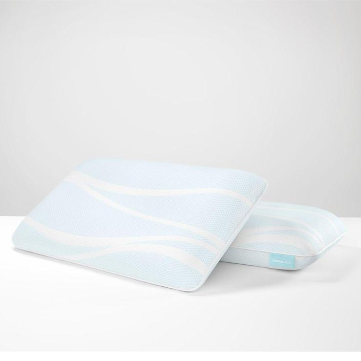"""<p><strong>Tempur-Pedic</strong></p><p>tempurpedic.com</p><p><strong>$199.00</strong></p><p><a href=""""https://go.redirectingat.com?id=74968X1596630&url=https%3A%2F%2Fwww.tempurpedic.com%2Fshop-pillows%2Ftempur-breeze-pro-cooling-pillow%2Fv%2F3182%2F&sref=https%3A%2F%2Fwww.goodhousekeeping.com%2Fhome-products%2Fpillow-reviews%2Fg30627120%2Fbest-pillows-for-side-sleepers%2F"""" rel=""""nofollow noopener"""" target=""""_blank"""" data-ylk=""""slk:Shop Now"""" class=""""link rapid-noclick-resp"""">Shop Now</a></p><p>The Tempur-Pedic breeze Pro + Advanced Cooling Pillow comes in two different heights, high and low, with the high style being ideal for side sleepers. <strong>In addition to the solid memory foam inside, there is also a gel layer designed to help keep you cool. </strong>Testers liked that the outer cover is machine washable and in our Lab evaluations, it did not show significant signs of wear or shrinkage after washing. Some testers noted that while the pillow quickly conforms to your head, it takes longer to return to the original shape if you move, so this style isn't well suited for you if you toss and turn while sleeping. </p><p><strong>Care: </strong>Cover only machine washable<strong><br>Fill: </strong>Solid memory foam, polyester and polyurethane cover<strong><br>Sizes: </strong>Queen and King</p>"""