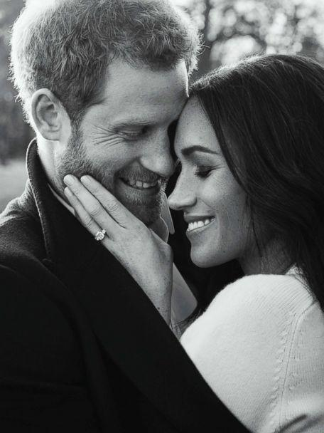 PHOTO: In this photo released by Kensington Palace, Dec. 21, 2017, Britain's Prince Harry and Meghan Markle pose for one of two official engagement photos, at Frogmore House, in Windsor, England. (Alexi Lubomirski via AP)