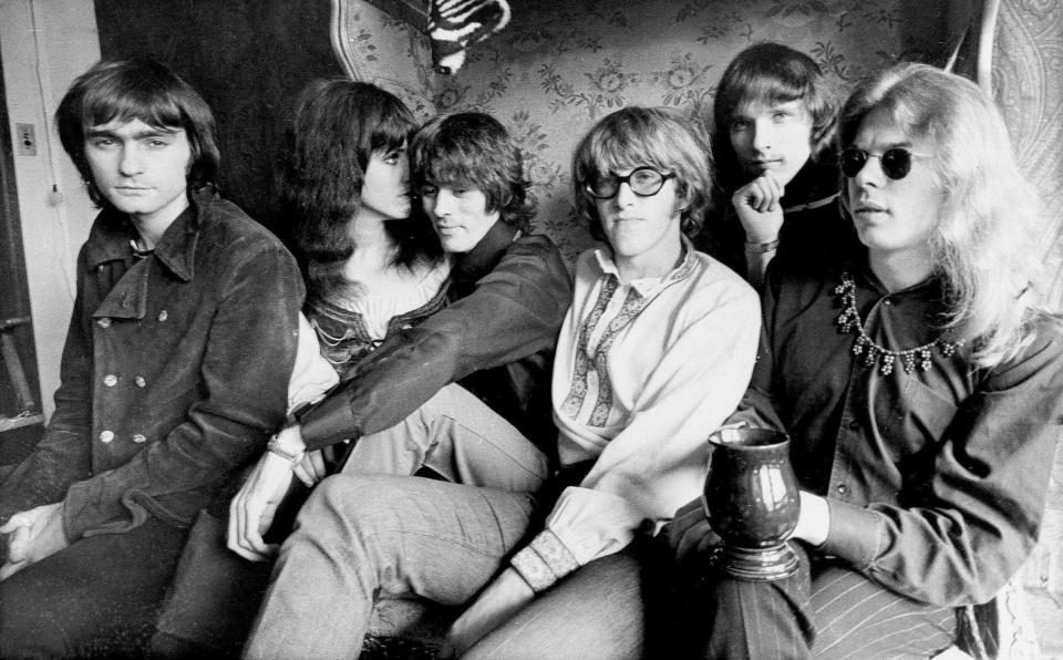 Jefferson Airplane members in their San Francisco apartment on Dec. 5, 1968. From left: Marty Balin, Grace Slick, Spencer Dryden, Paul Kantner, Jorma Kaukonen, and Jack Casady. (Photo: AP)
