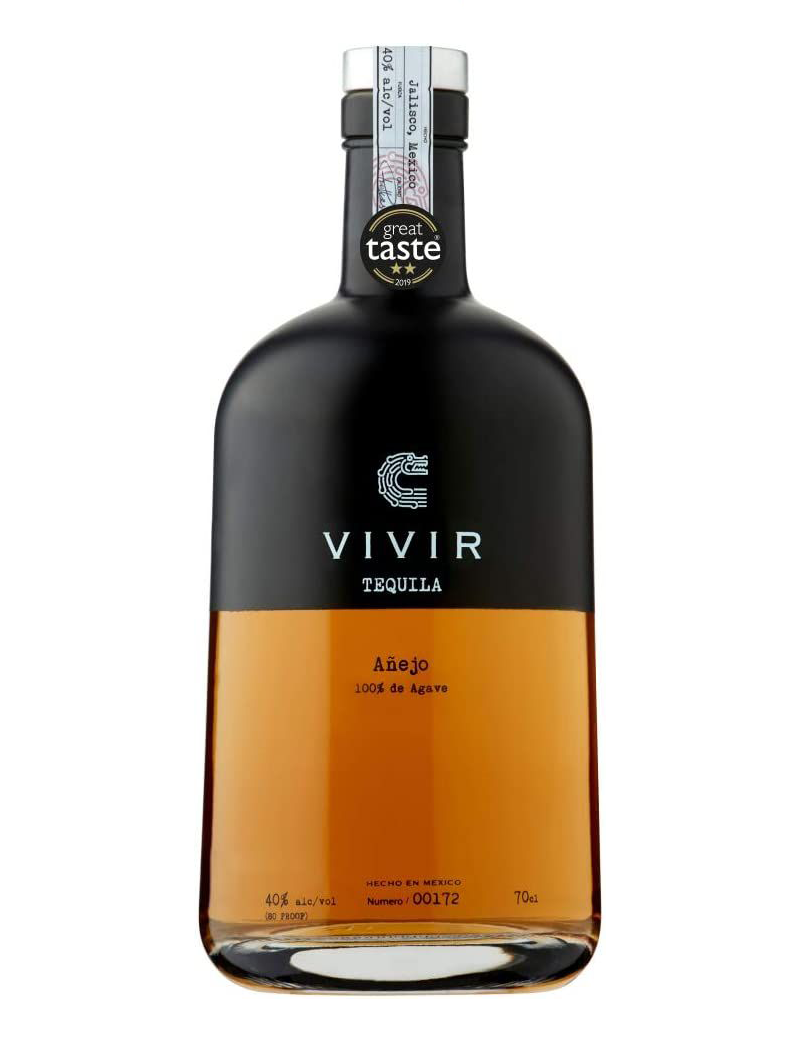 """<p><a class=""""link rapid-noclick-resp"""" href=""""https://www.amazon.co.uk/VIVIR-Tequila-Anejo-70-cl/dp/B07RTB89MZ/ref=pd_lpo_370_t_0/257-0942216-2119626?_encoding=UTF8&pd_rd_i=B07RTB89MZ&pd_rd_r=c5b6fee0-a482-4100-891a-2f353b49a1d6&pd_rd_w=HP7vh&pd_rd_wg=6Uial&pf_rd_p=3366510f-1771-44b5-99e2-20c1889506ac&pf_rd_r=YA0Z76ZQTFS9EGDMZG8J&psc=1&refRID=YA0Z76ZQTFS9EGDMZG8J&tag=hearstuk-yahoo-21&ascsubtag=%5Bartid%7C1923.g.35509977%5Bsrc%7Cyahoo-uk"""" rel=""""nofollow noopener"""" target=""""_blank"""" data-ylk=""""slk:SHOP"""">SHOP</a></p><p>The Vivir range has picked up a small constellation of Great Taste Award stars between its blanco, reposado and añejo tequilas, but our pick is the caramel-y, banana-y añejo. A good one for sipping on the rocks.</p><p>£43.95, amazon.co.uk</p>"""