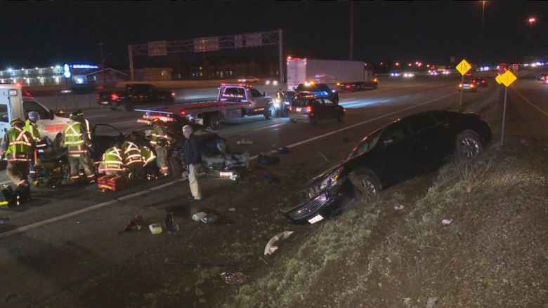 Woman sole victim in deadly crash on QEW in Burlington