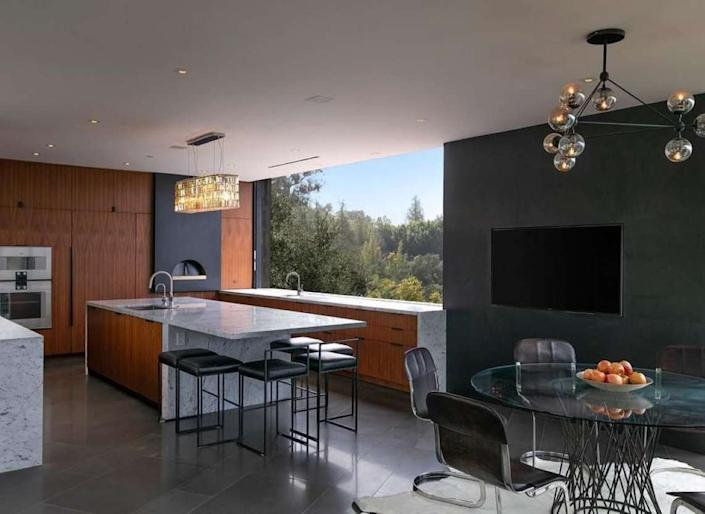 The sleek, minimalist interiors of film producer Ken Kao's new Beverly Hills Mansion.