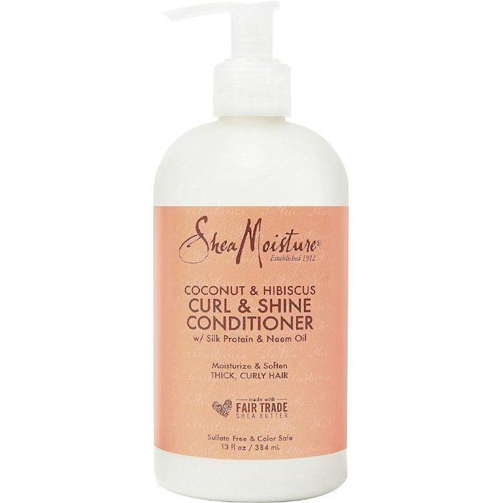 """<p><strong>SheaMoisture</strong></p><p>amazon.com</p><p><strong>$17.99</strong></p><p><a href=""""https://www.amazon.com/dp/B08PFGXWSR?tag=syn-yahoo-20&ascsubtag=%5Bartid%7C10051.g.36740831%5Bsrc%7Cyahoo-us"""" rel=""""nofollow noopener"""" target=""""_blank"""" data-ylk=""""slk:Shop Now"""" class=""""link rapid-noclick-resp"""">Shop Now</a></p><p>For damaged, dry, or just hair you want to give a treat to, this conditioner is not only insanely hydrating, but it also smells like a tropical vacation.</p>"""
