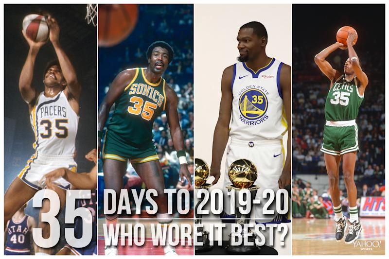 Which NBA player wore No. 35 best?