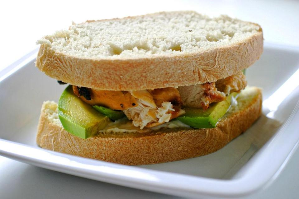 <p><b>Grilled Chicken & Avocado Sandwich</b><br></p><p>For a quick gourmet upgrade to your regular grilled chicken sandwich use mashed avocado seasoned with salt & pepper. A healthy option to regular mayonnaise, avocados are tastier too. Just spread avocado mash on lightly toasted bread & place grilled chicken & a few tomato slices. Sprinkle some freshly cracked pepper for a healthy snack option. <br></p>