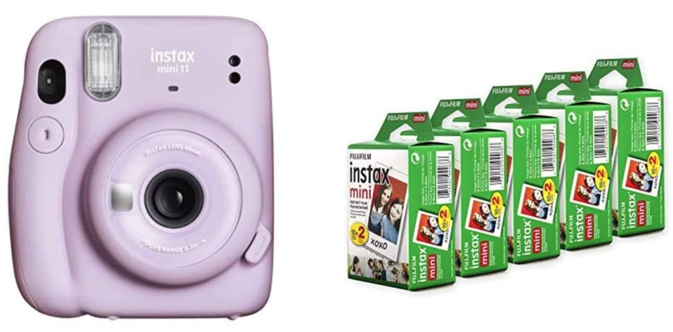 Fujifilm Instax Mini 11 Instant Camera Bundle with Instax Mini Film