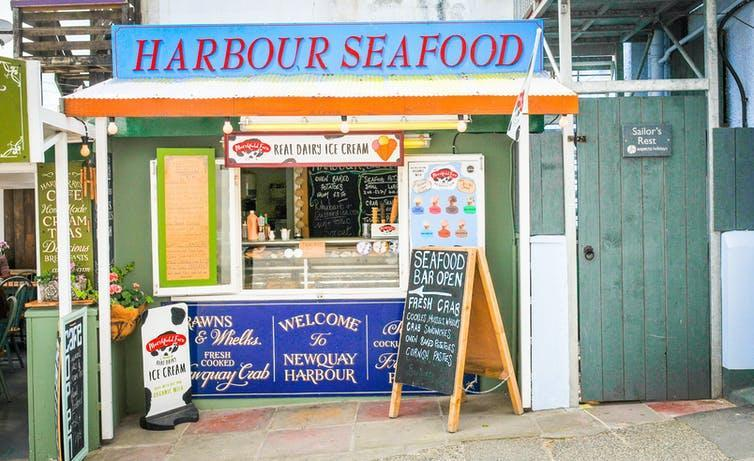 'Harbour seafood' restaurant in Cornwall