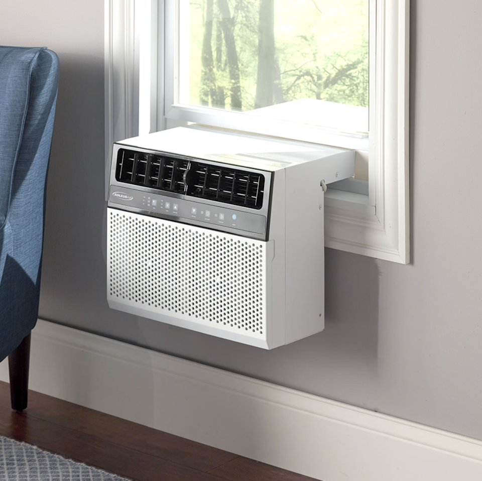 """<h2>Best Air Conditioner Window Unit</h2><h3><br>Hammacher Schlemmer The Over The Sill Low Profile Air Conditioner</h3>You can't walk a block in NYC without seeing at least ten air conditioner window units in every building. These machines, especially this ergonomic window sill unit, are the closest you can get to central air conditioning.<br><br><strong>The Hype:</strong> 4.6 out of 5 stars and 118 reviews on <a href=""""https://www.hammacher.com/product/over-sill-low-profile-air-conditioner"""" rel=""""nofollow noopener"""" target=""""_blank"""" data-ylk=""""slk:Hammacher Schlemmer"""" class=""""link rapid-noclick-resp"""">Hammacher Schlemmer</a><br><br><strong>Easy-Breezy Buyers Say:</strong> """"I love this air conditioner. It's quiet and efficient. I have it in a bedroom and it's probably too small for this size air conditioner but I like that it doesn't block out any light and the room cools down very quickly, The quiet mode is perfect to sleep with. It went into the window easily and instructions were easy to understand with a little help from YouTube. I would absolutely recommend this air conditioner.""""<br><br><em>Shop</em> <a href=""""https://www.hammacher.com/"""" rel=""""nofollow noopener"""" target=""""_blank"""" data-ylk=""""slk:Hammacher Schlemmer"""" class=""""link rapid-noclick-resp""""><strong><em>Hammacher Schlemmer</em></strong></a><br><br><br><br><strong>Hammacher Schlemmer</strong> The Over The Sill Low Profile Air Conditioner, $, available at <a href=""""https://go.skimresources.com/?id=30283X879131&url=https%3A%2F%2Fwww.hammacher.com%2Fproduct%2Fover-sill-low-profile-air-conditioner"""" rel=""""nofollow noopener"""" target=""""_blank"""" data-ylk=""""slk:Hammacher Schlemmer"""" class=""""link rapid-noclick-resp"""">Hammacher Schlemmer</a>"""