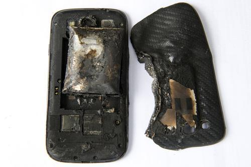 Melted smartphone
