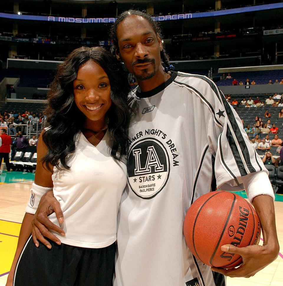 <p>These two famous artists are first cousins. (Though they usually keep it on the DL!) Their family also includes Brandy's brother, Ray J, FYI.</p>