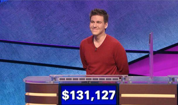 PHOTO: This image made from video aired on 'Jeopardy!' on Wednesday, April 17, 2019, and provided by Jeopardy Productions, Inc. shows James Holzhauer. (Jeopardy Productions, Inc. via AP)