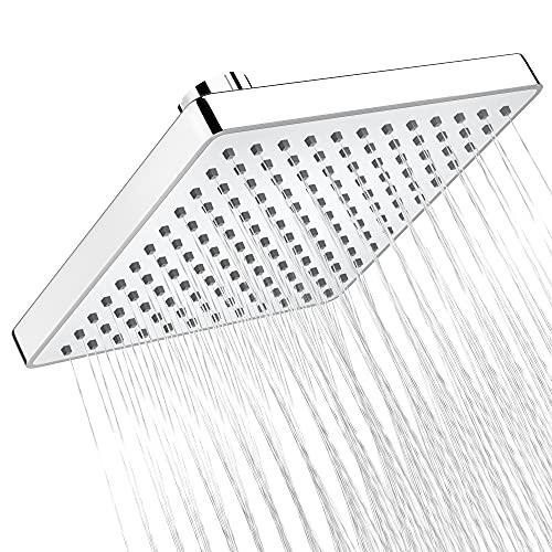 8'' Fixed Showerhead, High Pressure High Flow Rain with 144 Silicone Jets, Easy Installatio…