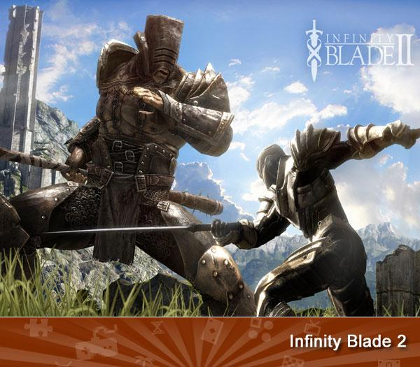 """<p class=""""MsoNormal"""">INFINITY BLADE II - Show offs, start here. The original Infinity Blade was hailed as the most graphically rich game to ever appear on a mobile device, but the just-released sequel manages to top it by tapping into the power of the A5 processor of the iPhone 4S and iPad 2, though it still looks amazing on older iOS devices. </p>  (<a href=""""https://search.yahoo.com/search?p=Infinity+Blade+2&fr=games-flipbook&ygmasrchbtn=Web+Searchcs=bz?"""">Search</a>)"""
