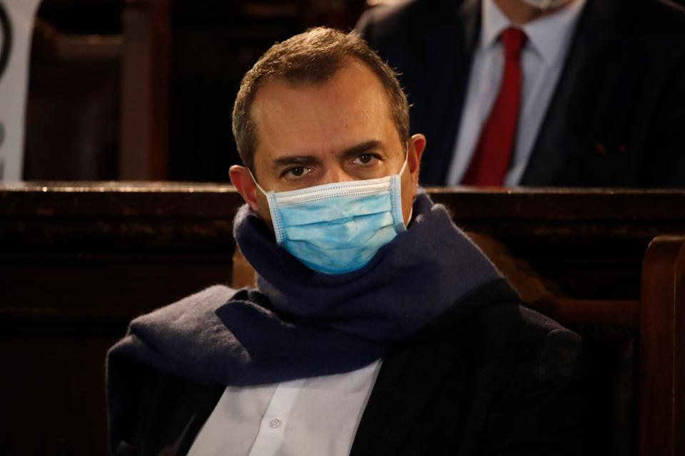 NAPLES, CAMPANIA, ITALY - 2021/01/12: The Mayor Luigi De Magistris wearing a protective mask during a press conference in Naples, for the presentation of the new members of the municipal council. (Photo by Salvatore Laporta/KONTROLAB/LightRocket via Getty Images) (Photo: KONTROLAB via Getty Images)