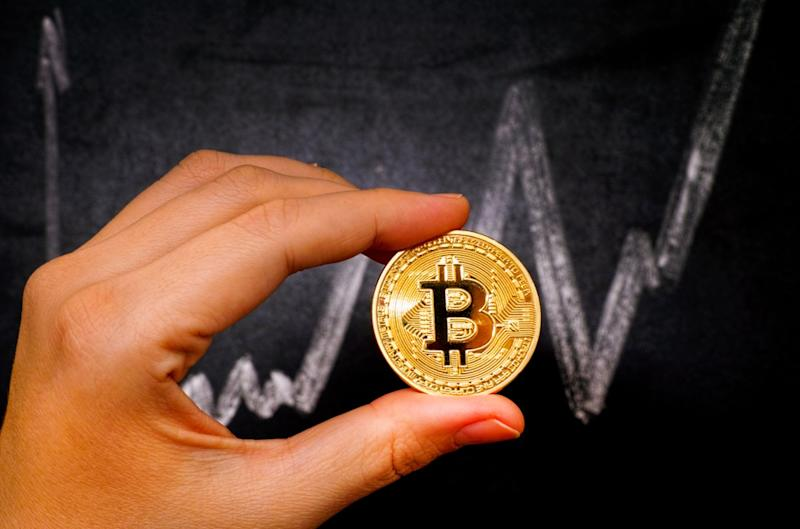 The bitcoin price surged to a new 12-month high on Sunday. | Source: Shutterstock