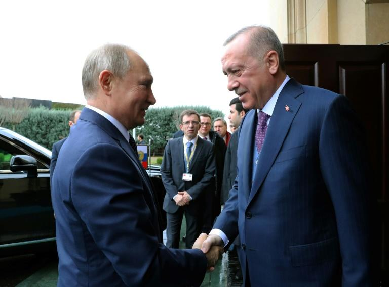 President Erdogan and  President Putin inaugurated the natural gas pipeline that will open up a new export path for Russian gas into Turkey and Europe with Mideast tensions also high on the pair's agenda