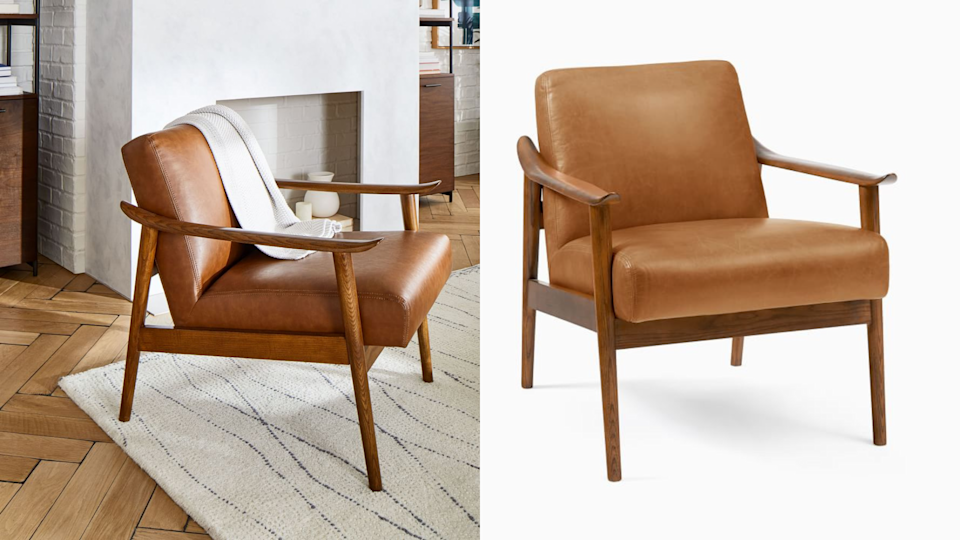 This beautifully crafted chair from West Elm can be purchased in eight bold colors.