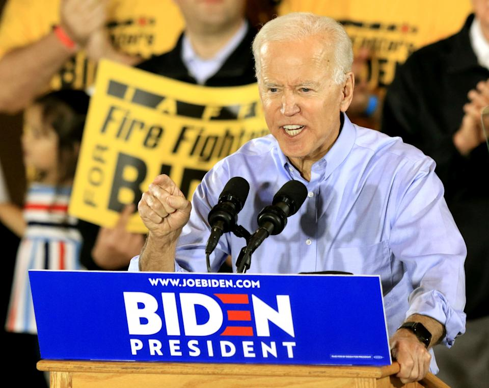 Joe Biden began his campaign in a union hall in Pittsburgh in April 2019. He has prioritized improving on Hillary Clinton's performance with union members in key states. (Photo: Aaron Josefczyk/Reuters)