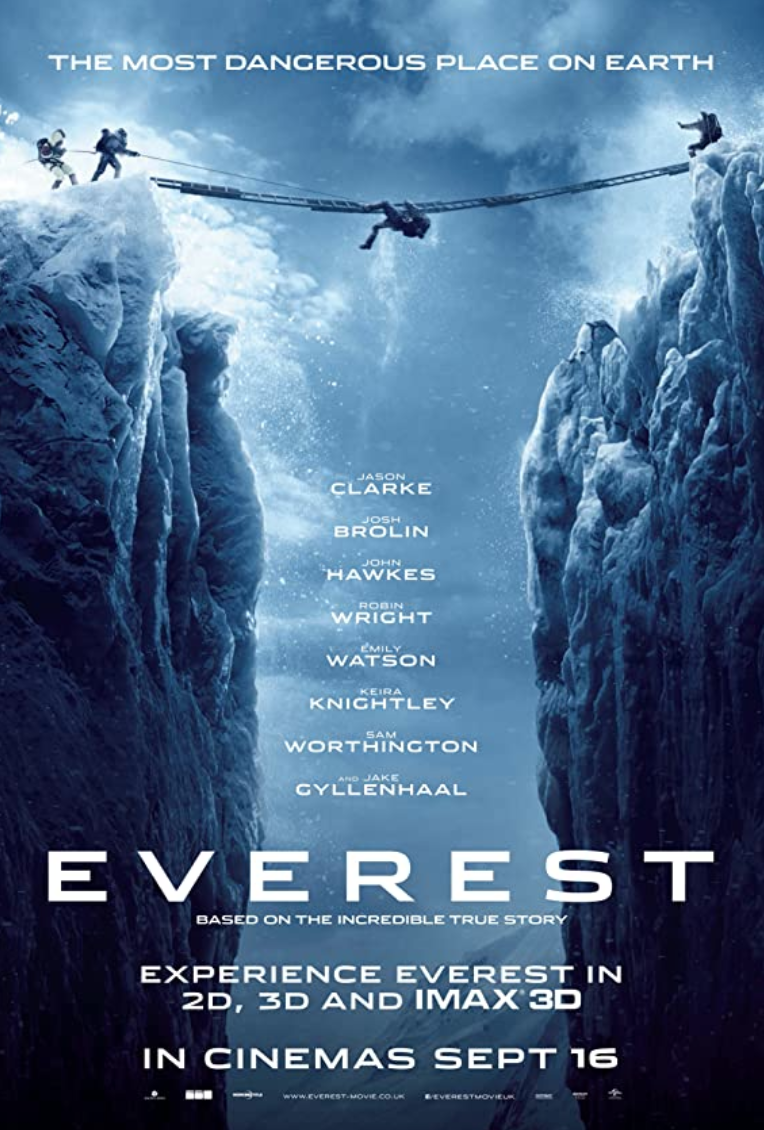 """<p><em>Everest</em> takes place during the events of the 1996 disaster, primarily following New Zealand's Robert Edwin Hall and American Scott Fischer, two climbers who met tragic fates during the climb.</p><p><a class=""""link rapid-noclick-resp"""" href=""""https://www.amazon.com/Everest-4K-UHD-Jason-Clarke/dp/B08NR6R1CJ/ref=sr_1_1?dchild=1&keywords=Everest+%282015%29&qid=1618411911&s=instant-video&sr=1-1&tag=syn-yahoo-20&ascsubtag=%5Bartid%7C2139.g.36099738%5Bsrc%7Cyahoo-us"""" rel=""""nofollow noopener"""" target=""""_blank"""" data-ylk=""""slk:STREAM IT HERE"""">STREAM IT HERE</a></p>"""