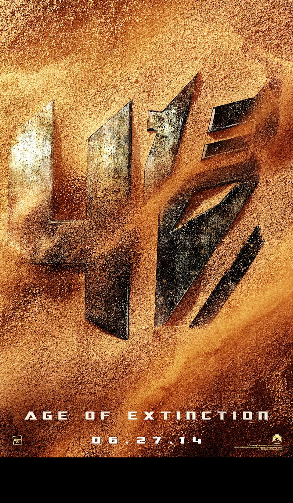 """The first teaser poster for Paramount Pictures' """"Transformers: Age of Extinction"""" - 2014"""